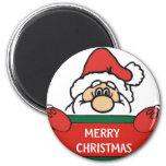 Felices Navidad Papá Noel Imanes