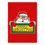 Felices Navidad Papá Noel Invitación 12,7 X 17,8 Cm