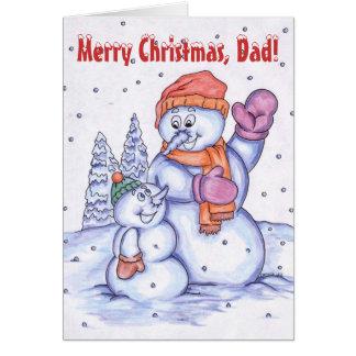 Felices Navidad, papá Tarjeta De Felicitación