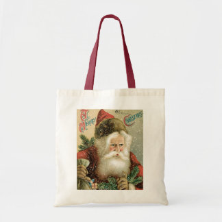 Felices Navidad pasadas de moda Papá Noel Bolsa De Mano