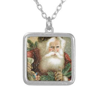 Felices Navidad pasadas de moda Papá Noel Collares