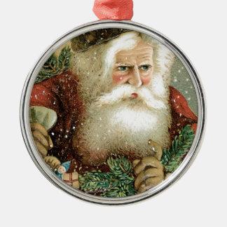 Felices Navidad pasadas de moda Papá Noel Adornos De Navidad