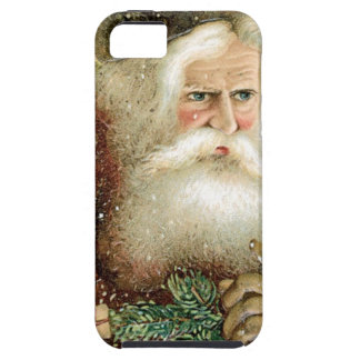 Felices Navidad pasadas de moda Papá Noel iPhone 5 Cárcasa