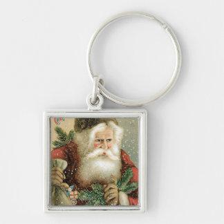 Felices Navidad pasadas de moda Papá Noel Llavero