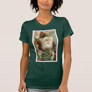 Felices Navidad pasadas de moda Papá Noel Camisetas