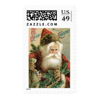 Felices Navidad pasadas de moda Papá Noel Sello