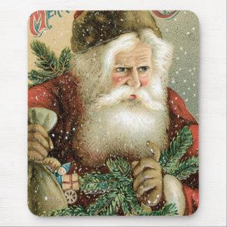 Felices Navidad pasadas de moda Papá Noel Alfombrillas De Ratones