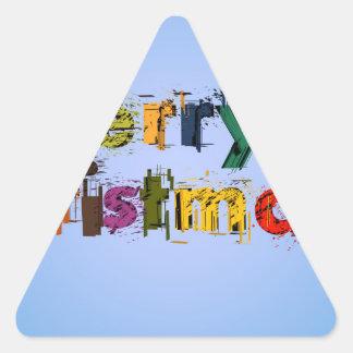 Felices Navidad Colcomanias Triangulo