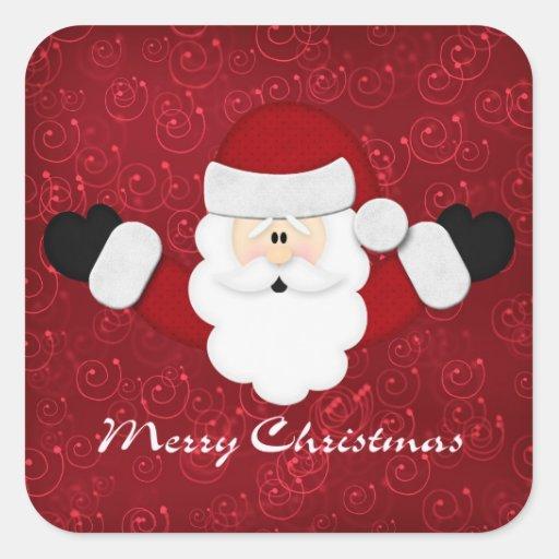 Felices Navidad Pegatina Cuadrada