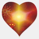 Felices Navidad Pegatina En Forma De Corazón