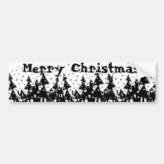 ¡Felices Navidad! Pegatina Para Auto