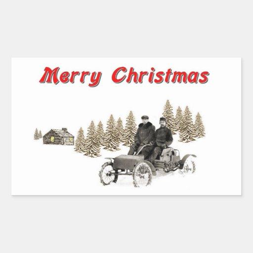 Felices Navidad Pegatina Rectangular