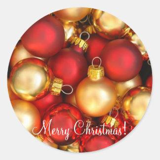 ¡Felices Navidad! Pegatina Redonda
