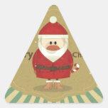 Felices Navidad Pegatina Triangular