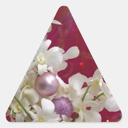 Felices Navidad Pegatina Triangulo