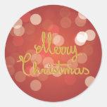 Felices Navidad Pegatinas Redondas