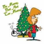Felices Navidad pero dibujo animado divertido no d Esculturas Fotograficas