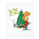 Felices Navidad pero dibujo animado divertido no d Flyer A Todo Color