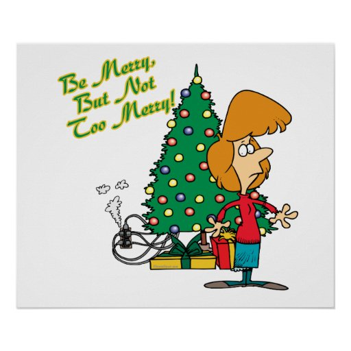 Felices Navidad pero dibujo animado divertido no d Posters
