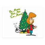 Felices Navidad pero dibujo animado divertido no d Postal