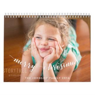 Felices Navidad personalizadas 2016 de los Calendario De Pared