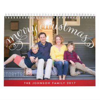 Felices Navidad personalizadas 2017 de la foto de Calendarios