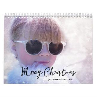 Felices Navidad personalizadas de los calendarios