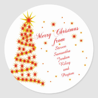 Felices Navidad personalizadas de Pegatina Redonda