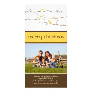 Felices Navidad Photocard (amarillo) de los Plantilla Para Tarjeta De Foto