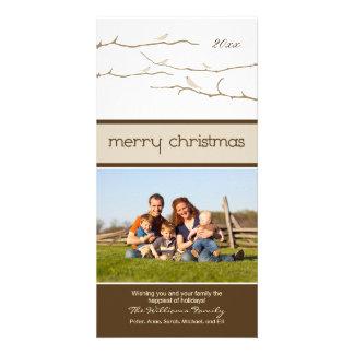 Felices Navidad Photocard de los pájaros de la Tarjeta Fotográfica Personalizada