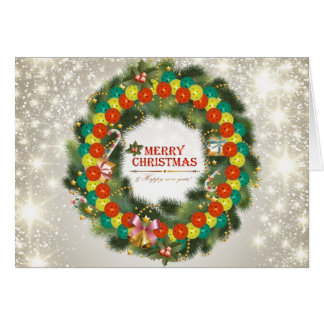 Felices Navidad Pickleball 1 tarjeta