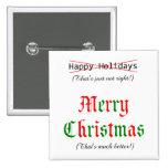 Felices Navidad Pin Cuadrada 5 Cm