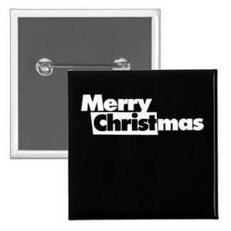 Felices Navidad Pin Cuadrado