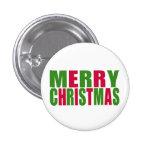 Felices Navidad Pin Redondo 2,5 Cm