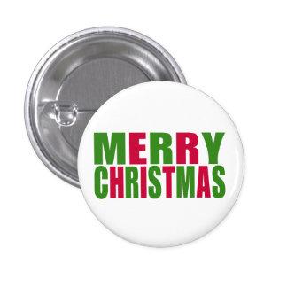 Felices Navidad Pin Redondo De 1 Pulgada