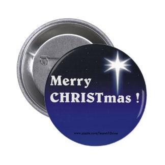 ¡Felices Navidad! Pin Redondo De 2 Pulgadas