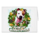 Felices Navidad Pitbull Tarjetas