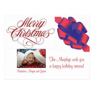 ¡Felices Navidad! Plantilla de encargo de la posta Postales