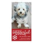 Felices Navidad - plantilla de la tarjeta de felic Tarjetas Fotográficas Personalizadas