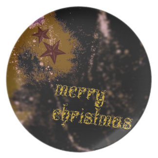 Felices Navidad Plato De Comida
