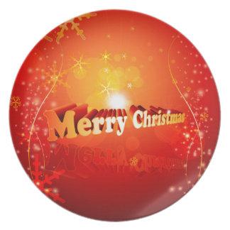 Felices Navidad Plato Para Fiesta