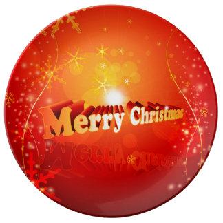 Felices Navidad Plato De Cerámica