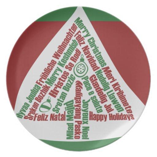 Felices Navidad Platos De Comidas