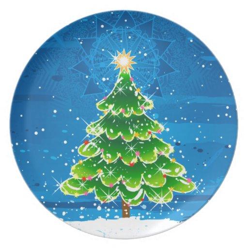 Felices Navidad Platos Para Fiestas