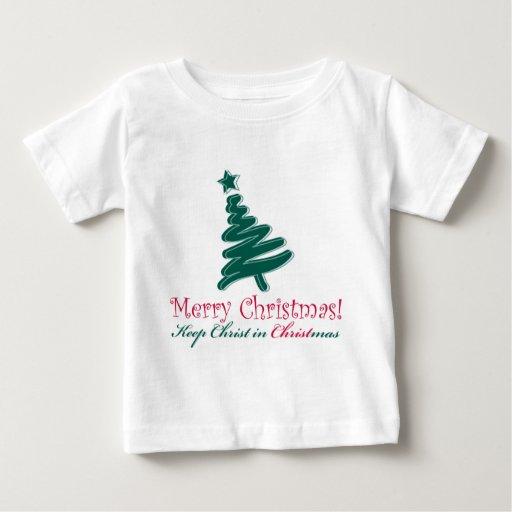 Felices Navidad Playera De Bebé