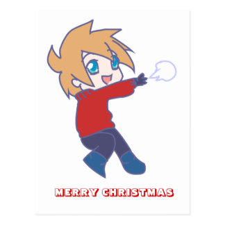 Felices Navidad, por Nekoni, juego de bolas de nie Postales