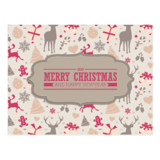 Felices Navidad Postal