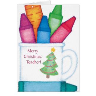 Felices Navidad, profesor Tarjeta De Felicitación