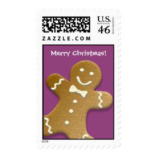 Felices Navidad púrpuras de la galleta del hombre