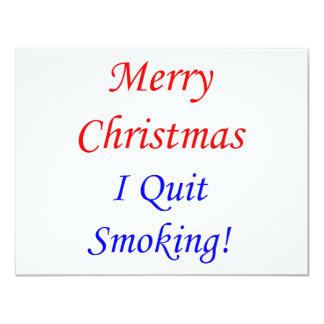 """¡Felices Navidad que abandoné el fumar! Invitación 4.25"""" X 5.5"""""""